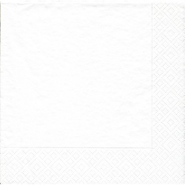 Caspari White Pearl Lunch Napkin