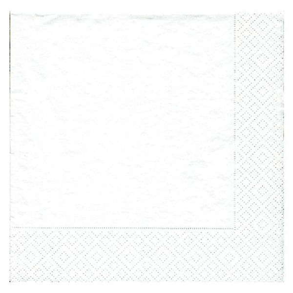 Caspari White Pearl Cocktail Napkin