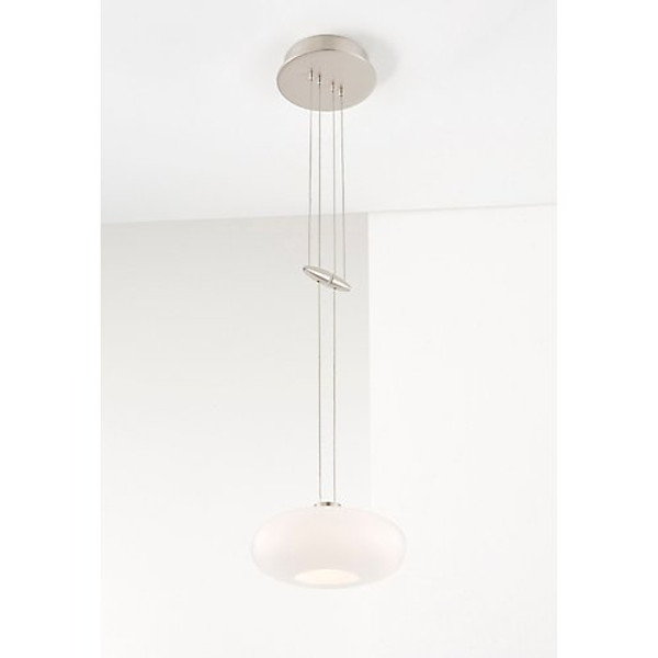 Holtkoetter Pendant in Satin Nickel with Glass Shade #5701