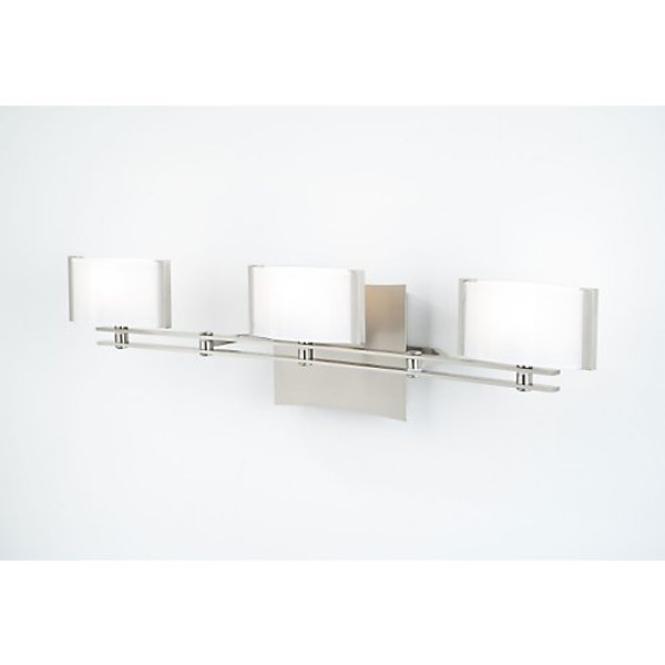 Holtkoetter 3 Light Sconce with Satin Nickel Finish