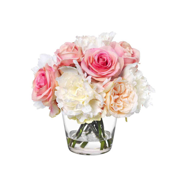 Diane James Home Blooms Mixed Roses and Peonies