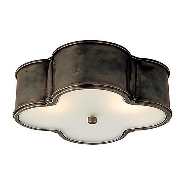 Alexa Hampton Basil 2 Light 11 inch  Gunmetal Flush Mount Ceiling Light
