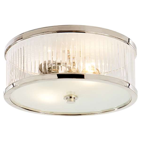 Alexa Hampton Randolph 2 Light 14 inch Polished Nickel Flush Mount Ceiling Light