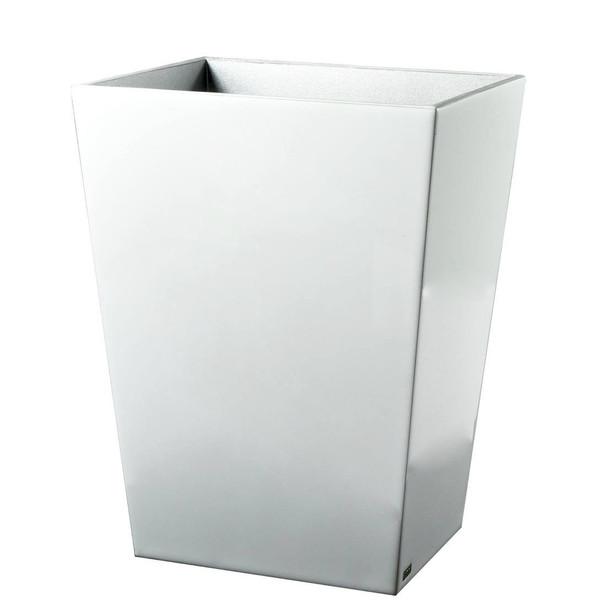 Mike & Ally Essentials Pure White Wastebasket