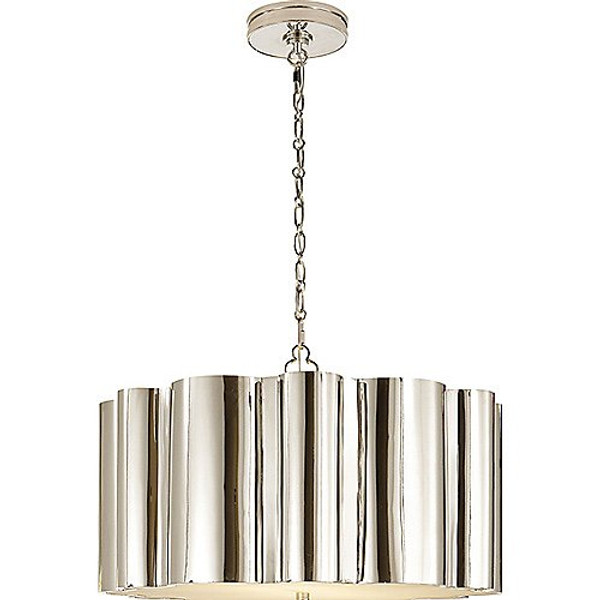 Visual Comfort Markos Hanging Shade in Polished Nickel
