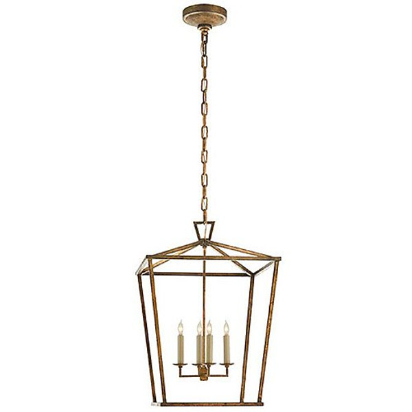 Visual Comfort Darlana Medium Lantern in Gilded Iron
