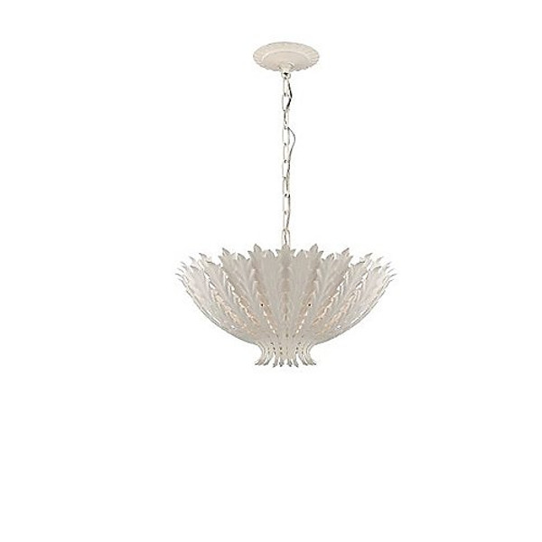 Aerin Hampton Leaf Pendant in Plaster White