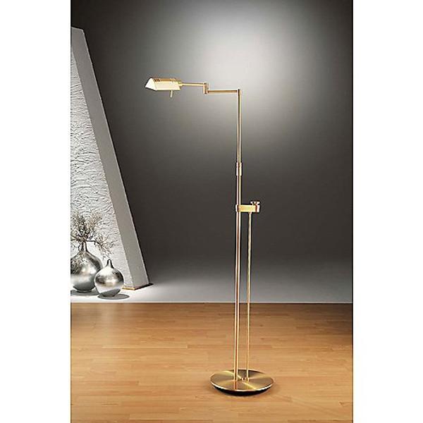 holkoetter brushed brass pharmacy floor lamp