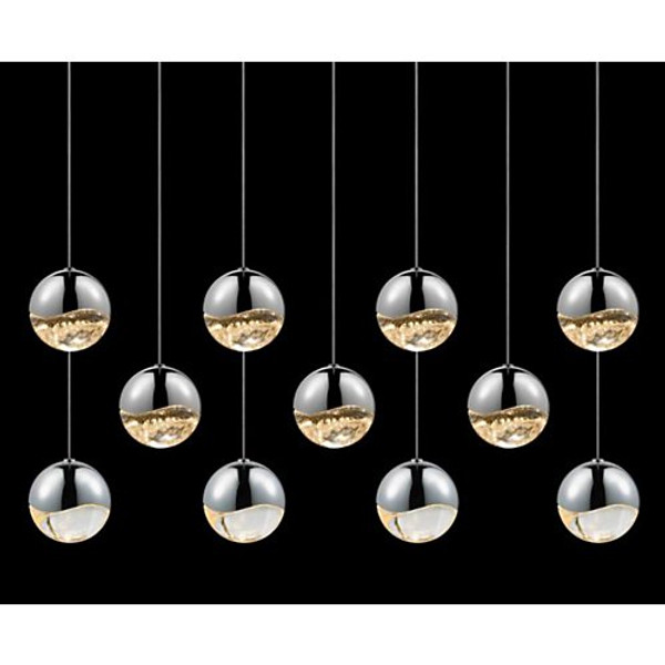 Sonneman Grapes 11-Light Rectangular Pendant