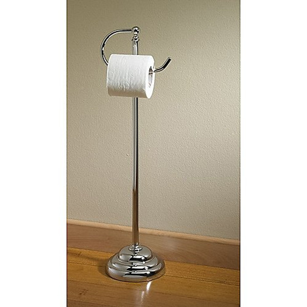 Essential Free Stand Tissue Holder, Polish Chrome