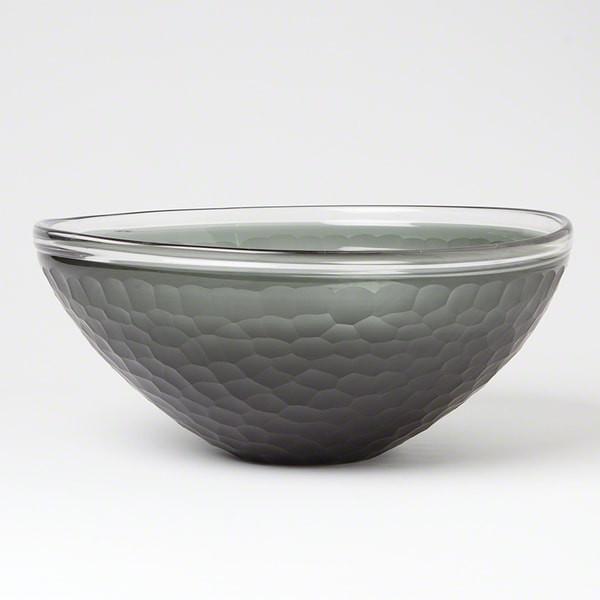 Global Views Chiseled Grey Bowl