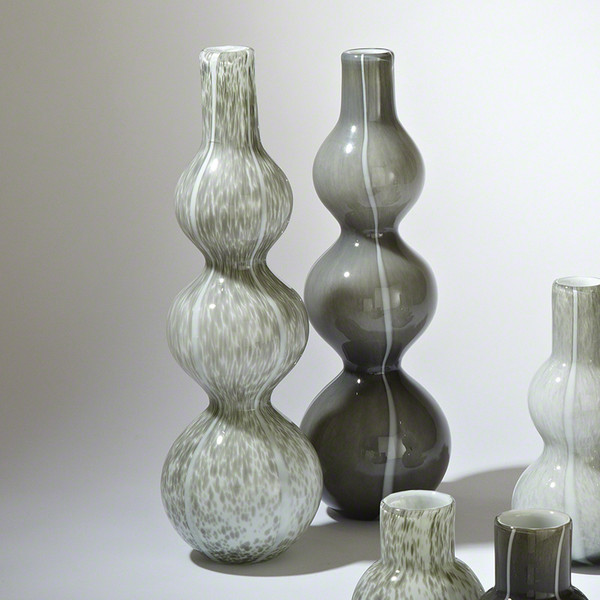 Global Views Dark Grey Three Bubble Vase