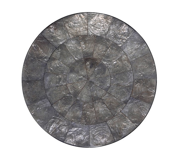Kim Seybert Round Capiz Gunmetal Placemat,