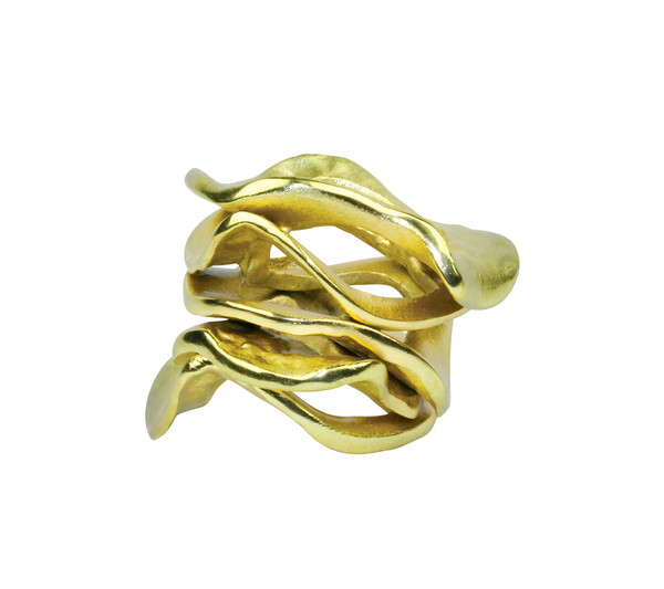 Kim Seybert Flux Gold Napkin Ring, Set of 4