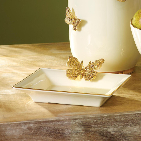 Jay Strongwater Velma Butterfly Tray