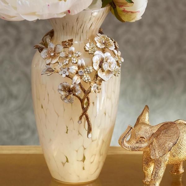 Jay Strongwater Polly Golden Bouquet Vase