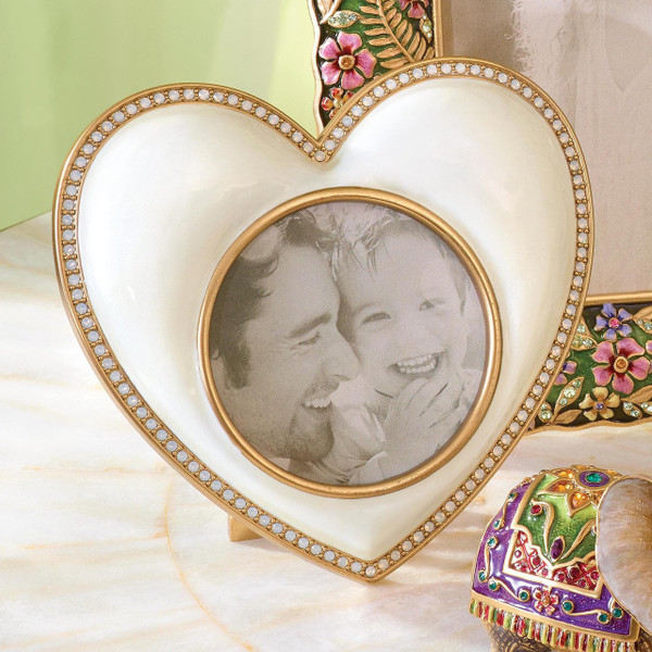Jay Strongwater Chantal Gold Heart Frame