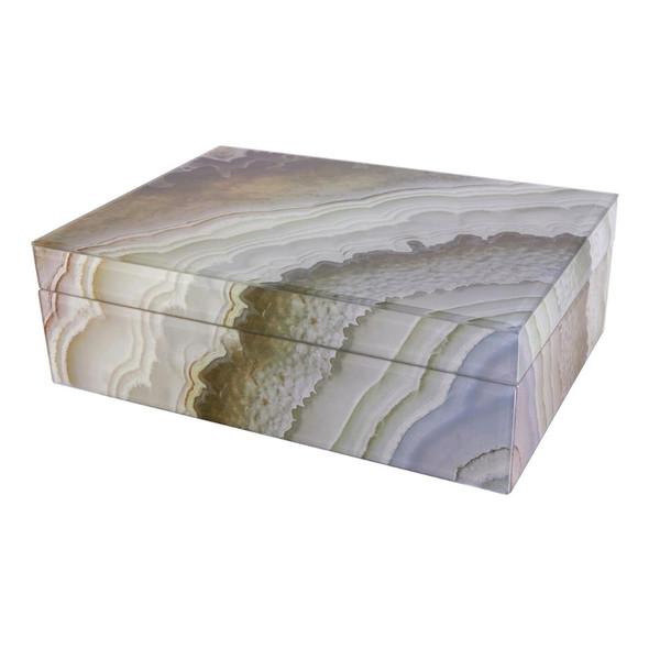 Tizo Marble/Grey Glass Box