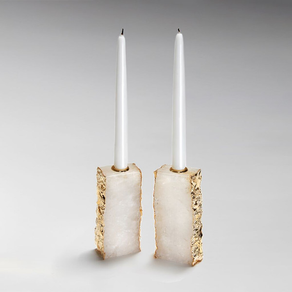 Anna by RabLabs Crystal Gold Candleholders