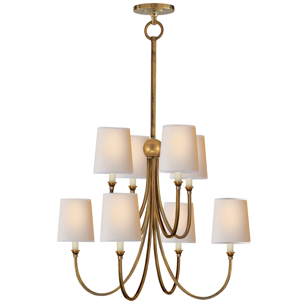 Thomas O'Brien Reed Chandelier, Antique Brass - Thomas O'Brien Reed Chandelier, Antique Brass - Gracious Home