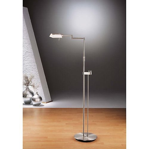 Holtkoetter Satin Nickel Pharmacy Floor Lamp #6317SLD