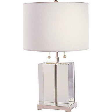 thomas o 39 brien small crystal block table lamp gracious home. Black Bedroom Furniture Sets. Home Design Ideas