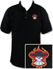 Ozone Billiards Gambling Outlaw Polo Shirt - Black - Free Personalization