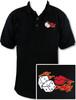 Ozone Billiards Flaming Dice Kiss Polo Shirt - Black - Free Personalization