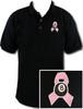 Ozone Billiards Pink Ribbon Black Polo Shirt - Free Personalization