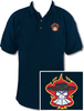 Ozone Billiards Gambling Outlaw Polo Shirt - Navy - Free Personalization