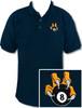 Ozone Billiards 8 Ball Talon Polo Shirt - Navy - Free Personalization
