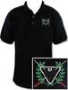 Ozone Billiards Ivy League Polo Shirt - Black - Free Personalization