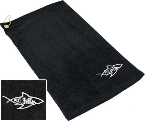 Ozone Billiards Pool Shark Logo Towel - Black - Free Personalization