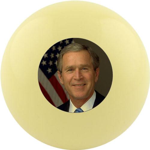 Custom Cue Ball - George W. Bush