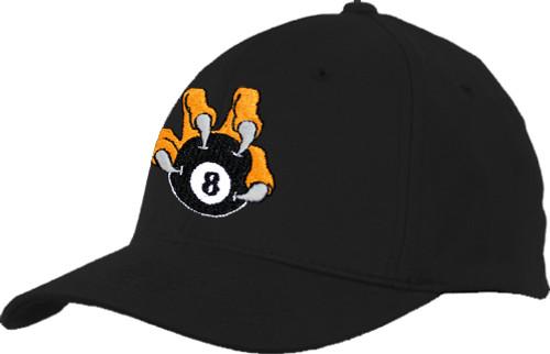 Ozone Billiards 8 Ball Talon Hat - Black - Free Personalization