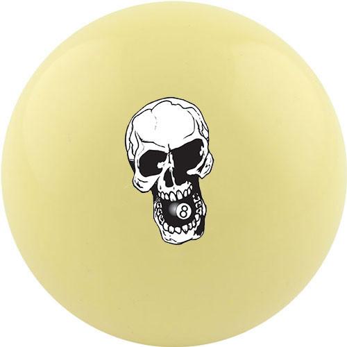 Custom Cue Ball - Skull 8 Ball
