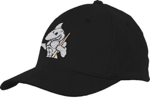 Ozone Billiards Big Shark Hat - Black - Free Personalization