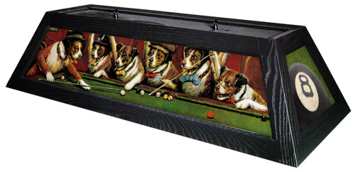 Pool Dogs Pool Table Light Black Stain