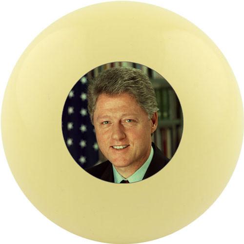 Custom Cue Ball - Bill Clinton