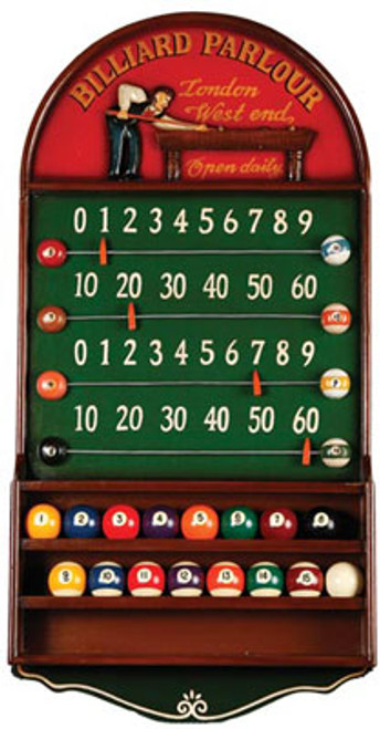 Billiard Parlour Scoreboard And Ball Holder