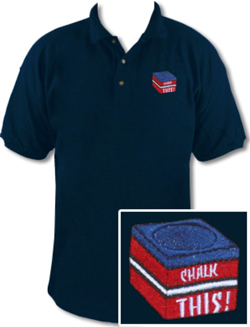 Ozone Billiards Chalk This Polo Shirt - Navy - Free Personalization