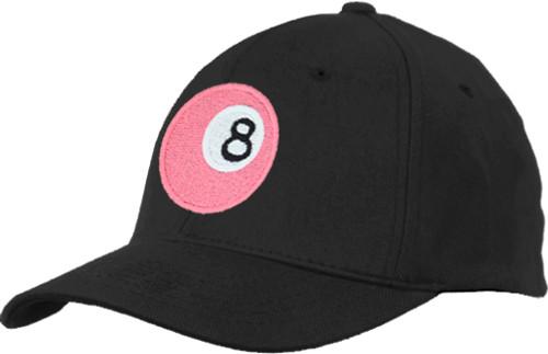 Ozone Billiards Pink 8 Ball Hat - Black - Free Personalization