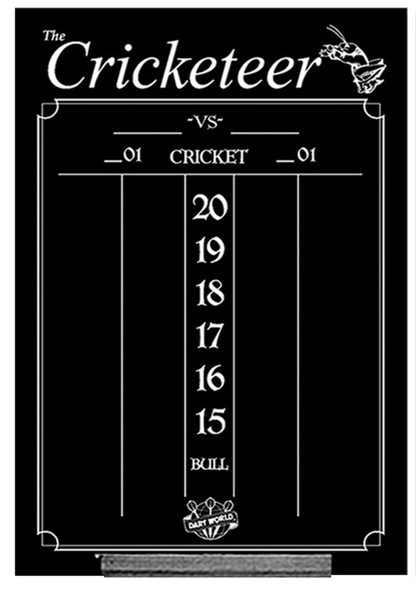 Cricketeer Large Chalk Scoreboard - Black