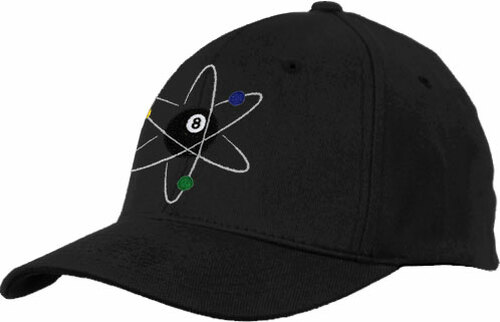 Ozone Billiards Atomic 8 Ball Hat - Black - Free Personalization