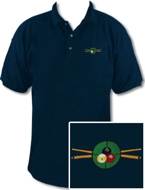 Ozone Billiards In The Crosshairs Navy Polo Shirt - Free Personalization