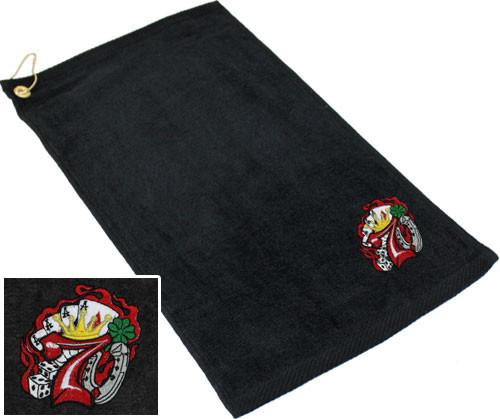 Ozone Billiards Lucky 7 Towel - Black - Free Personalization