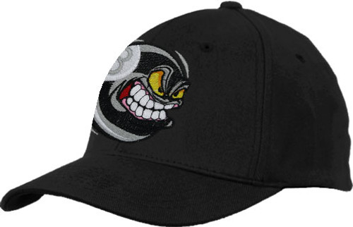 Ozone Billiards Angry 8 Ball Hat - Black - Free Personalization