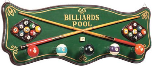 Billiards Coat Rack 3D Sign