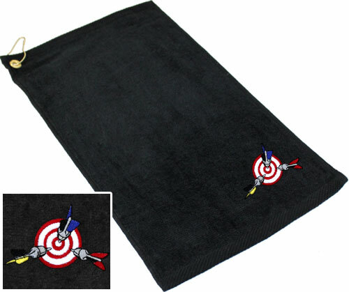 Ozone Billiards Bullseye Towel - Black - Free Personalization