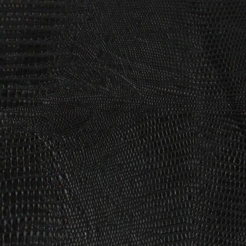 Genuine Leather Cue Wrap - Embossed Lizard Pool Cue Wrap - Black